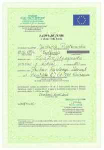 zoofizjoterapeuta - dyplom